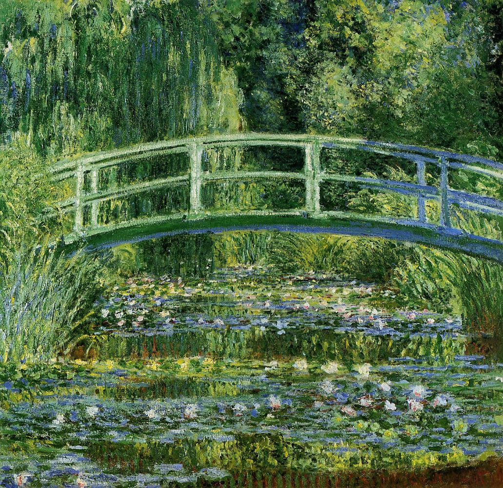 Bridge over a Pond of Water Lilies (1899) by Claude Monet