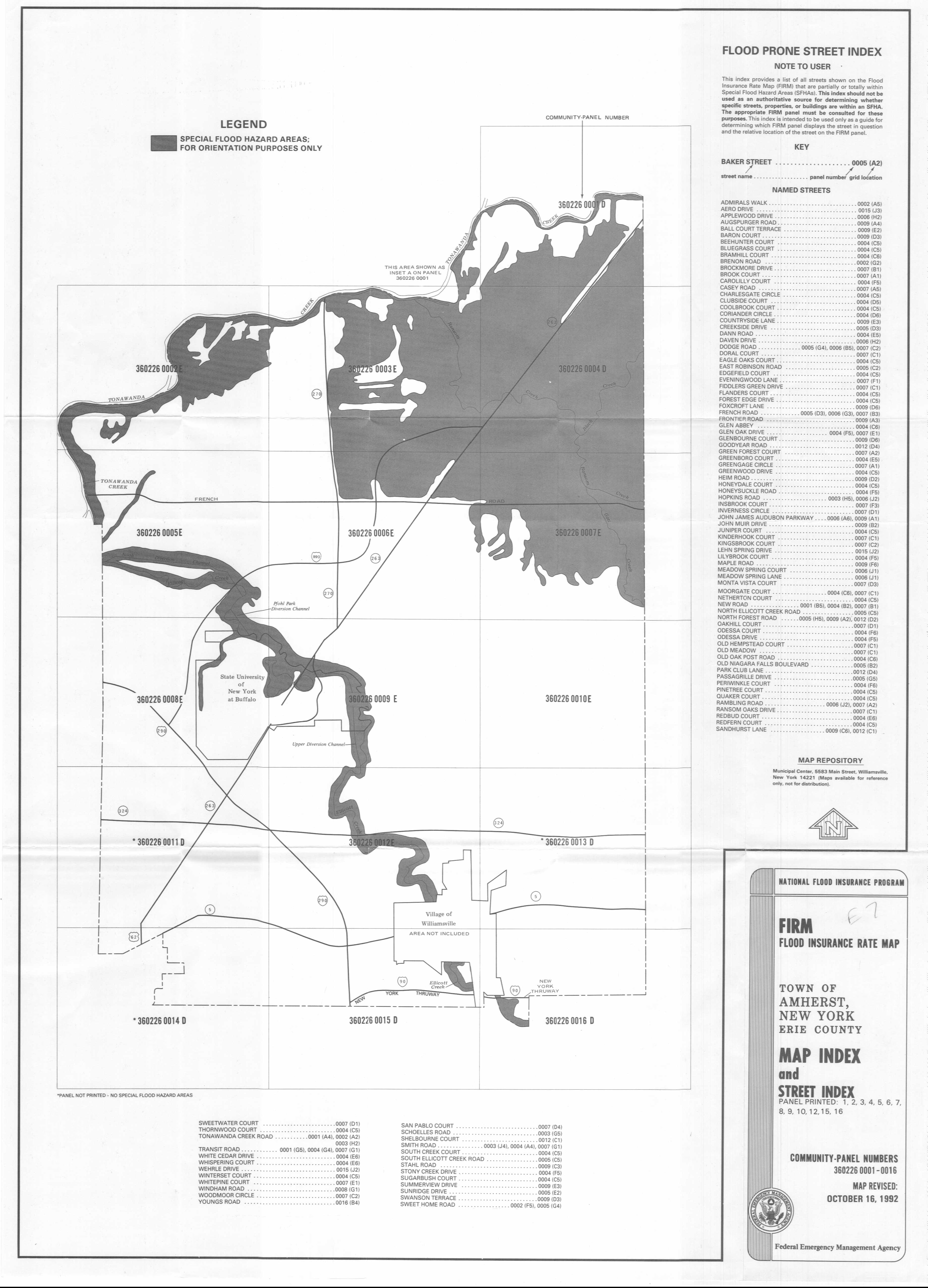Western New York Real Estate Town Of Amherst Flooding Information - Nyc flood zone map pdf